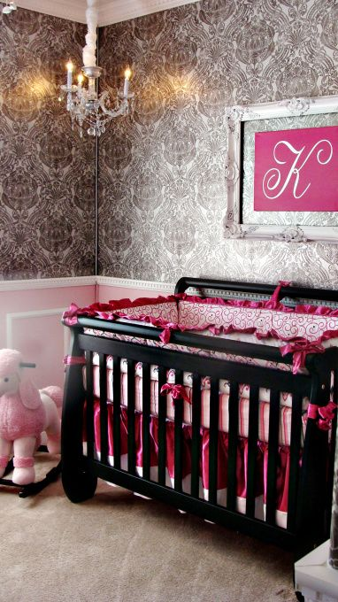"""dont have babies but i absolutely LOVE this for a baby girl room... and it's not too """"baby"""" so it would work when she gets a lil older too"""