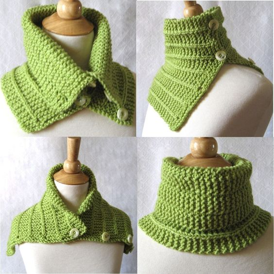 Knitting Pattern Convertible Cowl Capelet Scarf Plus 2 Tutorials is included ...