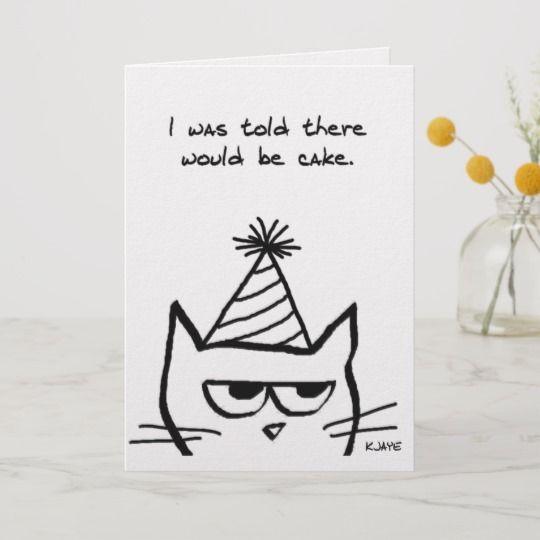 Angry Cat Hates Birthdays Funny Cat Card Zazzle Com Birthday Card Drawing Birthday Cards For Friends Cat Birthday Card