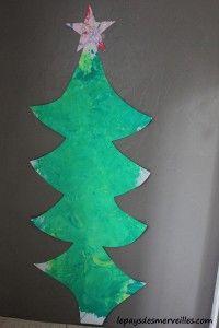 Bricolage sapin de Noel géant de l'avent 061113 (10)