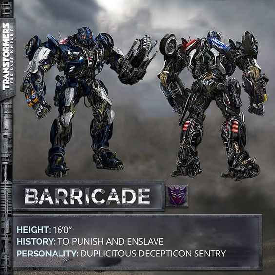 The first Decepticon confirmed to make a return to the Transformers movies is the police cruiser Barricade