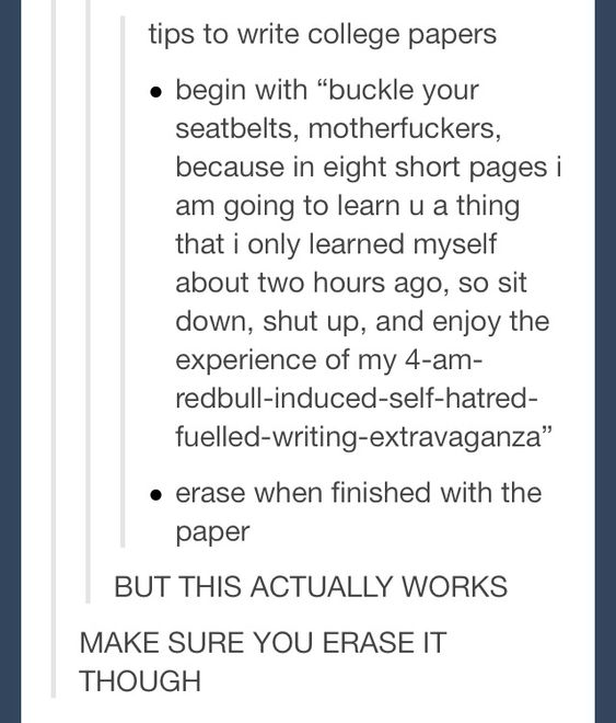 College essay inspiration