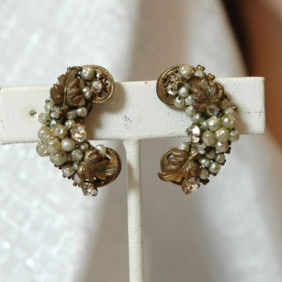 Vintage DeMario Earrings Vintage Bride Hand Wired by VWayne