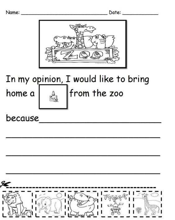 math worksheet : what would you bring home from the zoo kindergarten writing  : Free Download Kindergarten Worksheets