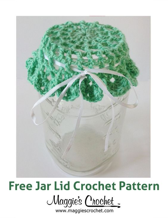 Crochet Patterns Jar Lids : Jar Lid Free Crochet Pattern from Maggies Crochet.