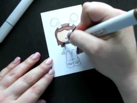 Coloring a Stamped Image with Copic Markers