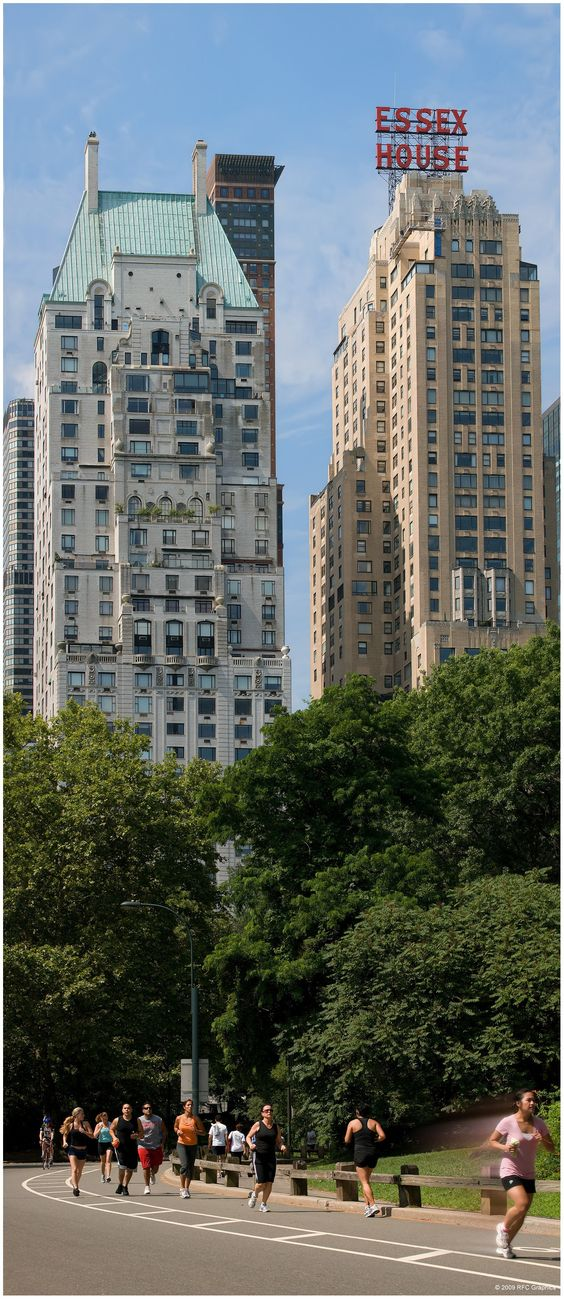 A view of hampshire house a co op apartment building and for Central park apartment new york