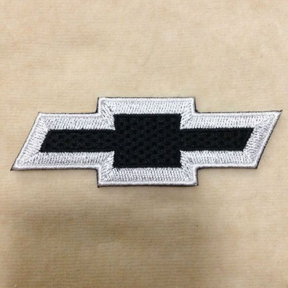 CHEVROLET CHEVY CAR LOGO EMBROIDERY IRON ON PATCH BADGE #BLACK WITH WHITE…