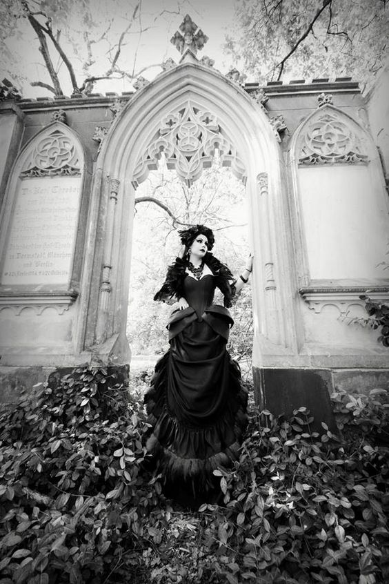 gothicrealm:  Model, Hair  Make-Up: Mademoiselle Karma Photographer: T-ArtsNecklace: DeadDoll's Needful Things