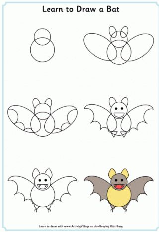 Easy animals to draw for kids step by step - photo#14