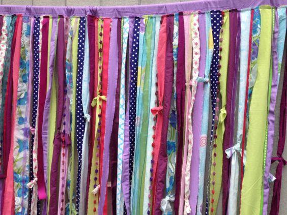 Shower Curtain Boho Hippie Bold Whimsical Rod Pocket Rag