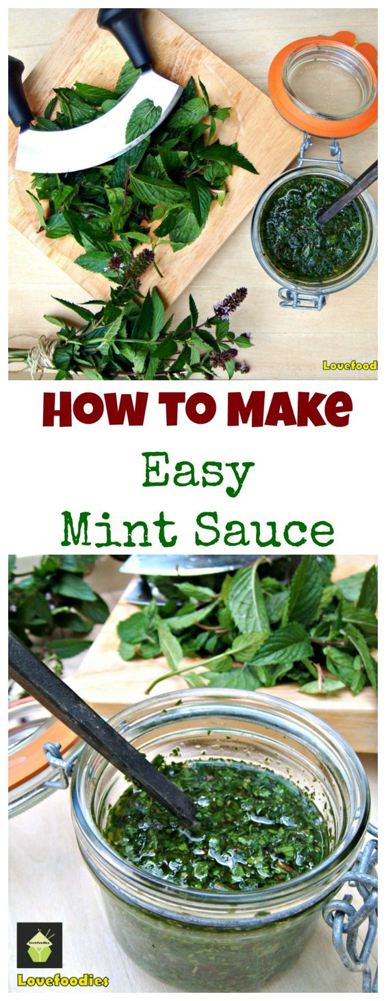 How To Make Easy Mint Sauce. Simple, homemade recipe, great with a roast dinner or to use as a marinade!