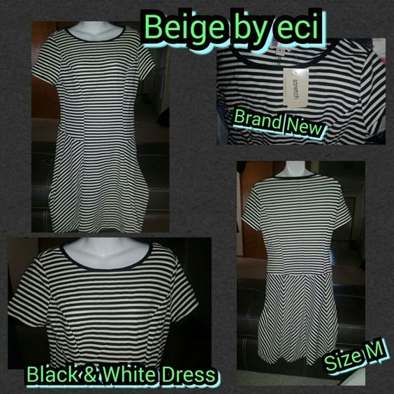 Selling this Black & White Dress in my Poshmark closet! My username is: kfrye71. #shopmycloset #poshmark #fashion #shopping #style #forsale #Beige #Dresses & Skirts