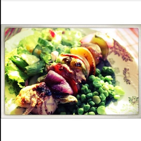 What we are grilling this week: chicken kabobs with a grilled corn salad. #KBISCookoff #lifestylistlist #foodiefriday