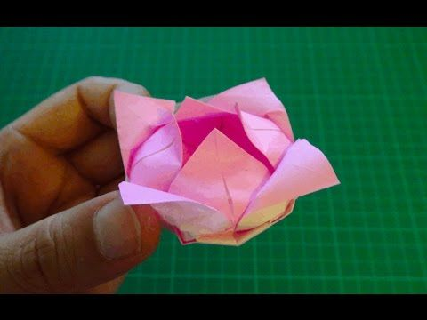 Origami Lily Flower Paper Lily Flower Calyx Youtube Origami