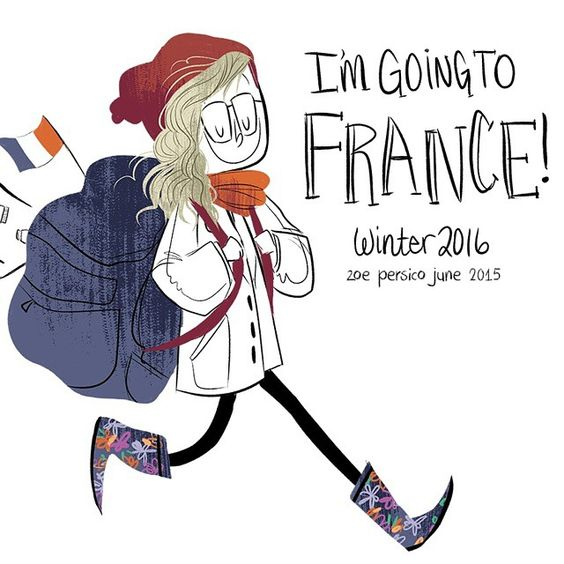 Got accepted to go to France for study abroad! #art #illustration #france #studyabroad #scad #savannahcollegeofartanddesign by zobobafoozie
