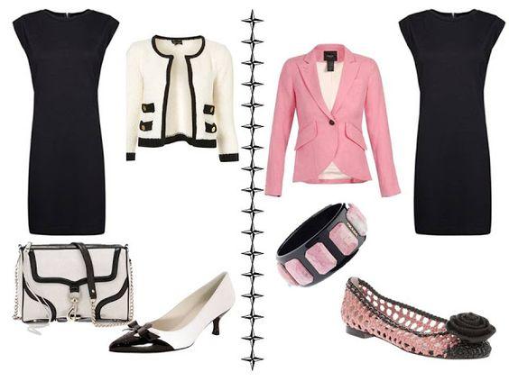 Variations on a dress: Black, sleeveless