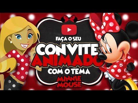 Convite Animado Virtual Minnie Vermelha Gratis Para Baixar
