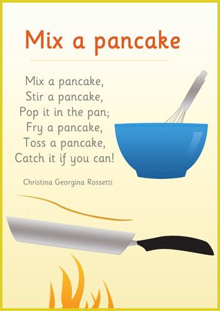 Mix a Pancake - Common Core, Exemplar Texts: Poetry