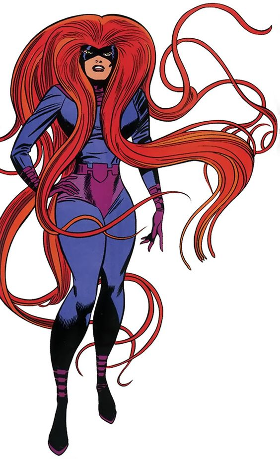Medusa (Medusalith Amaquelin Boltagon ), Queen of the Inhumans - wife to Black Bolt & sister to Crystal - original costume -Marvel Comics