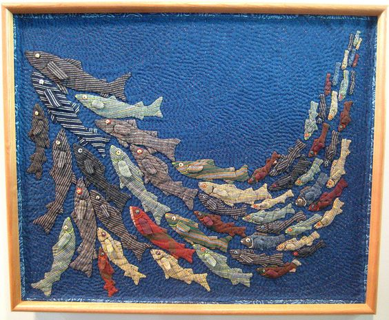 Fish quilt from 2012 Tokyo International Great Quilt Festival  Frame Quilt category by Be*mused, via Flickr