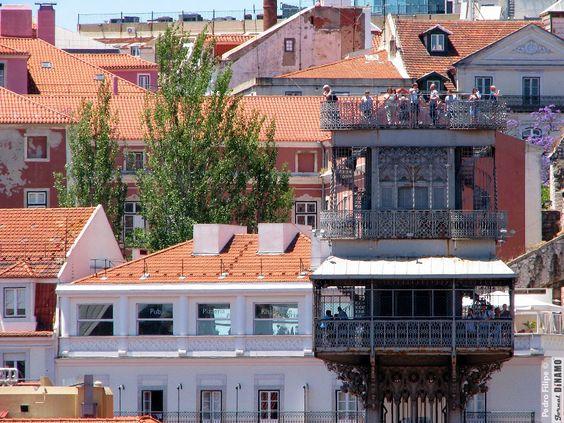Top of Elevador de Santa Justa, Lisboa, Portugal