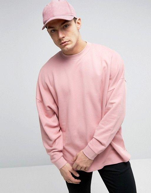 ASOS Oversized Sweatshirt With Stepped Hem