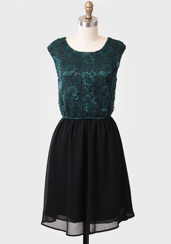Lady Luck Lace Detail Dress