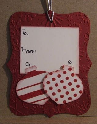 The Happy Scraps: Handmade Christmas Gift Tag Exchange by pansy
