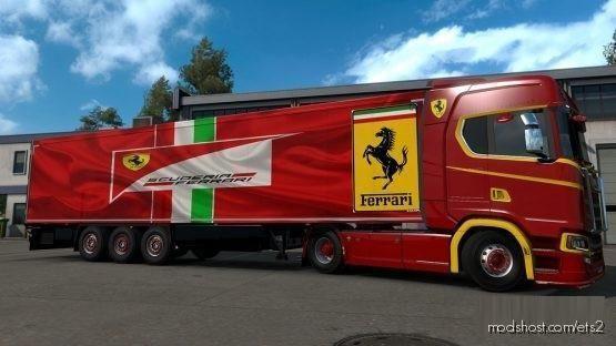 Download Ferrari Trailer Skin Mod For Euro Truck Simulator 2 At Modshost Visit Https Modshost Com Ets2 For More Lkw Fahrer Lkw Fahrer