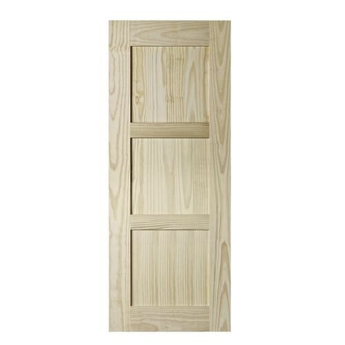 Colonial Elegance Shaker Model Natural Pine 3 Panel Barn Door At Menards Barn Door Interior Barn Doors Glass Barn Doors