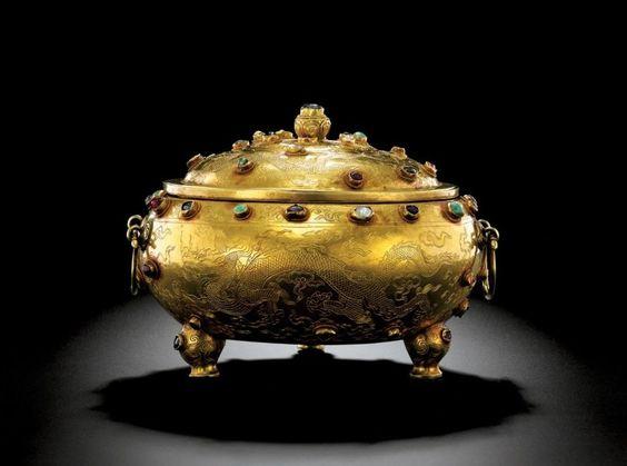 Ming Dynasty Gold Tripod Vessel