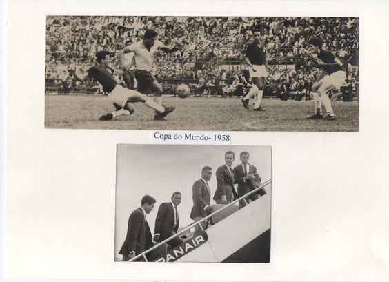 Foto Antiga Seleção Brasileira Em 1958