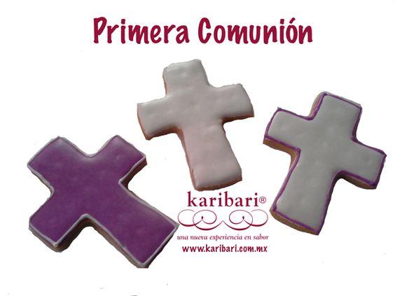 Galletas en forma de cruz para Primera Comunión