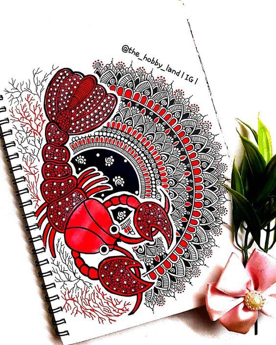 120 Likes 35 Comments Suchitra L Mandalal Art L The Hobby Land On Instagram Ocean Mandala Mandala Design Art Mandala Art Lesson Mandala Design Pattern