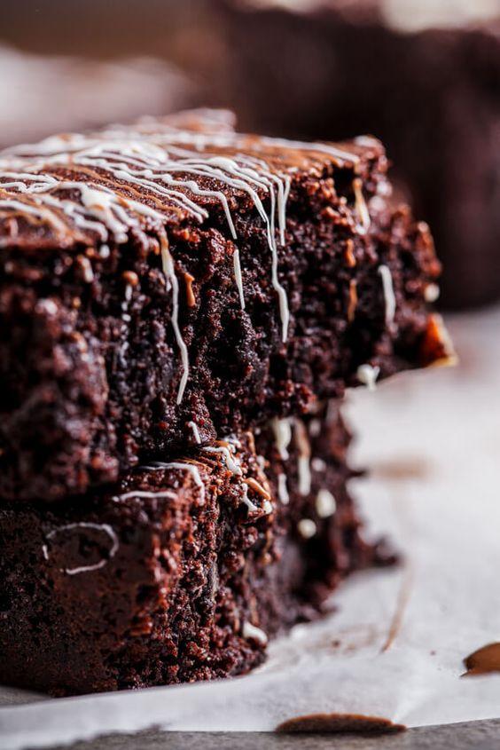 Triple chocolate coconut brownies