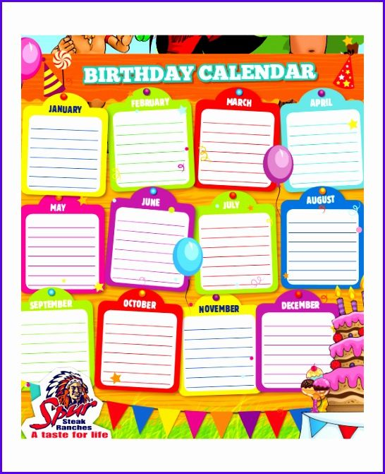 Sample Free Birthday Calendar Template Excel Boonf Beautiful Sales Calendar Templates Weekly Excel Calendar Template Family Birthday Calendar Birthday Calendar