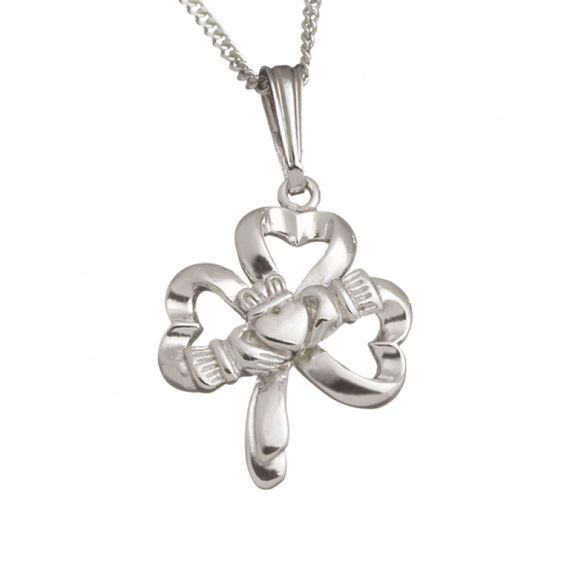 Opentip.com: Guinness Official Merchandise PE4003 Claddagh Shamrock Pendant on a chain