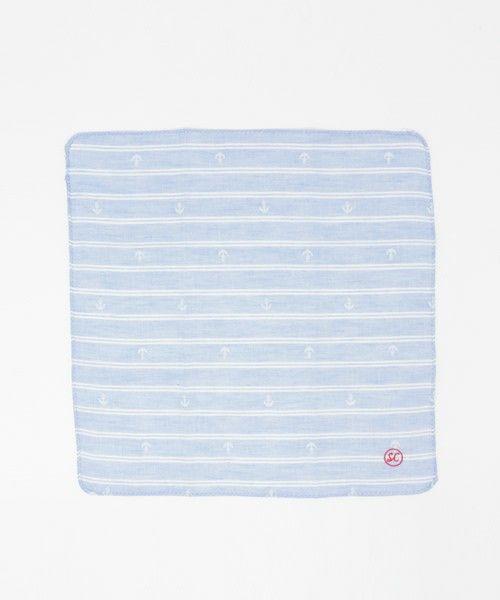 studio CLIP 服飾雑貨(スタディオクリップ フクショクザッカ)のアンカーダブルガーゼハンカチ(ハンカチ/ハンドタオル)|ライトブルー