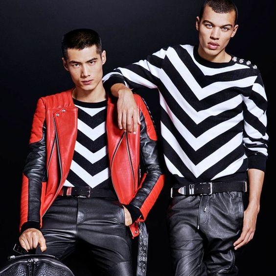H&M e Balmain divulgaram as peças da campanha conjunta para a coleção masculina, que chega ao mercado no próximo mês, seguindo o estilo já conhecido da marca francesa. #moda #modamasculina #modaparahomens #malesfashion #hm #Balmain #fastfashion