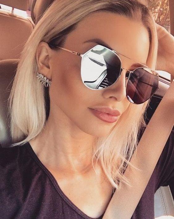 Óculos Espelhado Feminino (foto: Pinterest/Reprodução)