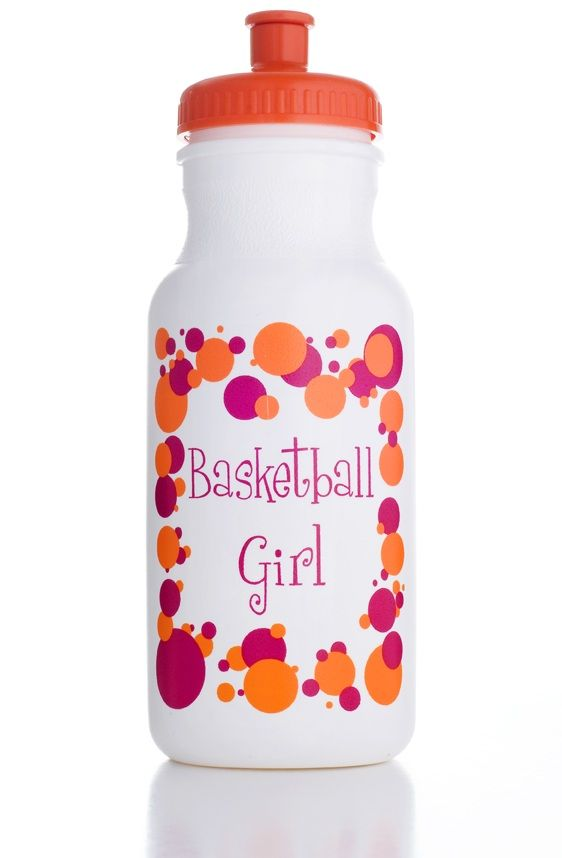 Basketball Girl 20oz Sports Bottle   Heart On Your Sleeve Design  www.heartonyoursleevedesign.com  www.facebook.com/heartonyoursleevedesign.com $3.00