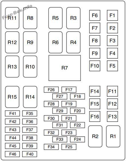 under-hood fuse box diagram: ford fiesta (2012, 2013) | ford fiesta, fuse  box, ford  pinterest