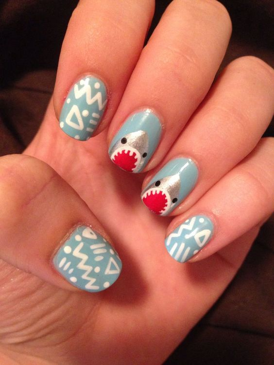 20 Shark Manicures You Can Sink Your Teeth Into