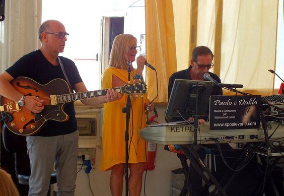 Musica per ricevimento di nozze in Provincia di Lecce Gruppo musicale per matrimonio Lecce Paolo e Dalila Live Trio con Tastiera, voce e chitarra