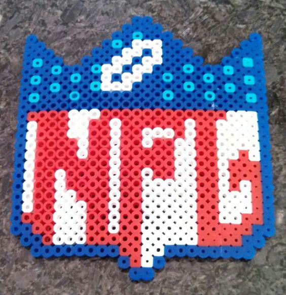 NFL Football perler beads