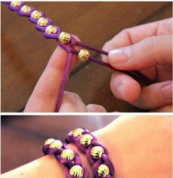 DIY braid bracelet... thinking i should make and sell these for next years…
