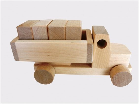 Wooden Toy Trucks wooden toy truck with blocks on etsy, $16.00 clean ...