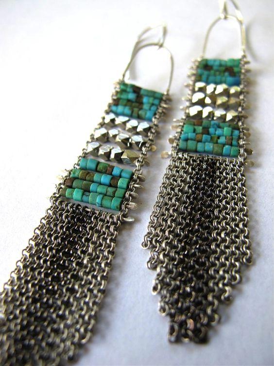 Demimonde Turquoise Fringe Earrings