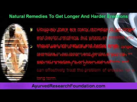 This video describes about natural remedies to get longer and harder erections. You can find more details about Overnight Oil and 4T Plus Capsules at http://www.ayurvedresearchfoundation.com